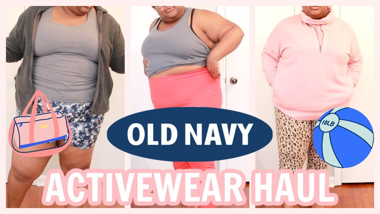 HUGE $200 OLD NAVY PLUS SIZE ACTIVEWEAR TRY-ON HAUL