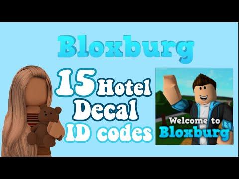 Bloxburg Hotel Decal Id Codes Youtube