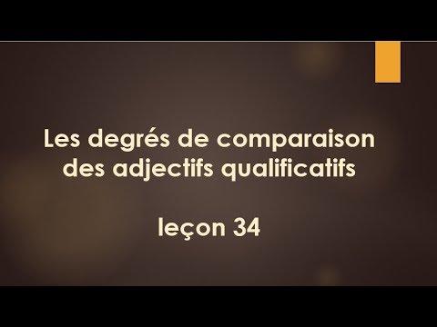 Французский язык Урок 34 Степени сравнения прилагательных