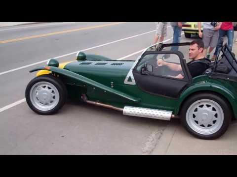 Caterham Seven leaving Fuel Cars & Coffee Cincinnati 5/28/16
