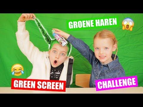 DE GROENE HAREN GREEN SCREEN CHALLENGE!! ♥DeZoeteZusjes♥