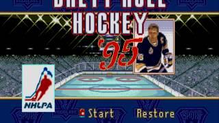 Sega Mega Drive Brett Hull Hockey 95 Gameplay ( Genesis )
