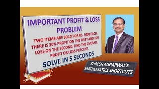 Trick 419 - Shortcut for PROFIT AND LOSS PROBLEM - 2