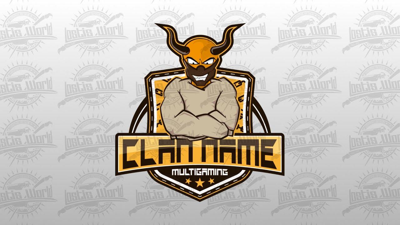Created a Psycho Clan Logo (eSports) - YouTube