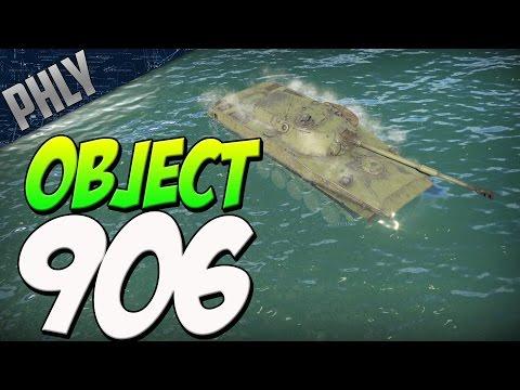 OBJECT 906 - RIVER MONSTER (War Thunder 1.65 Tanks Gameplay)