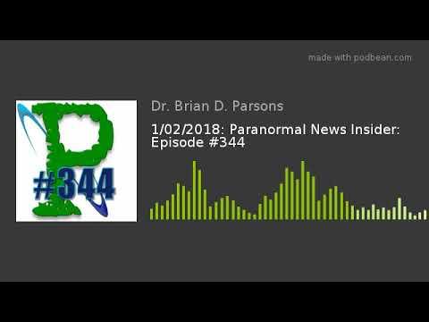 1/02/2018: Paranormal News Insider: Episode #344