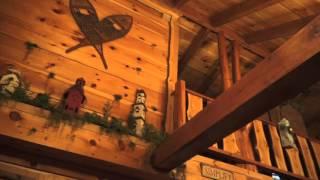 amazing door county hand hewn log cabin in the woods