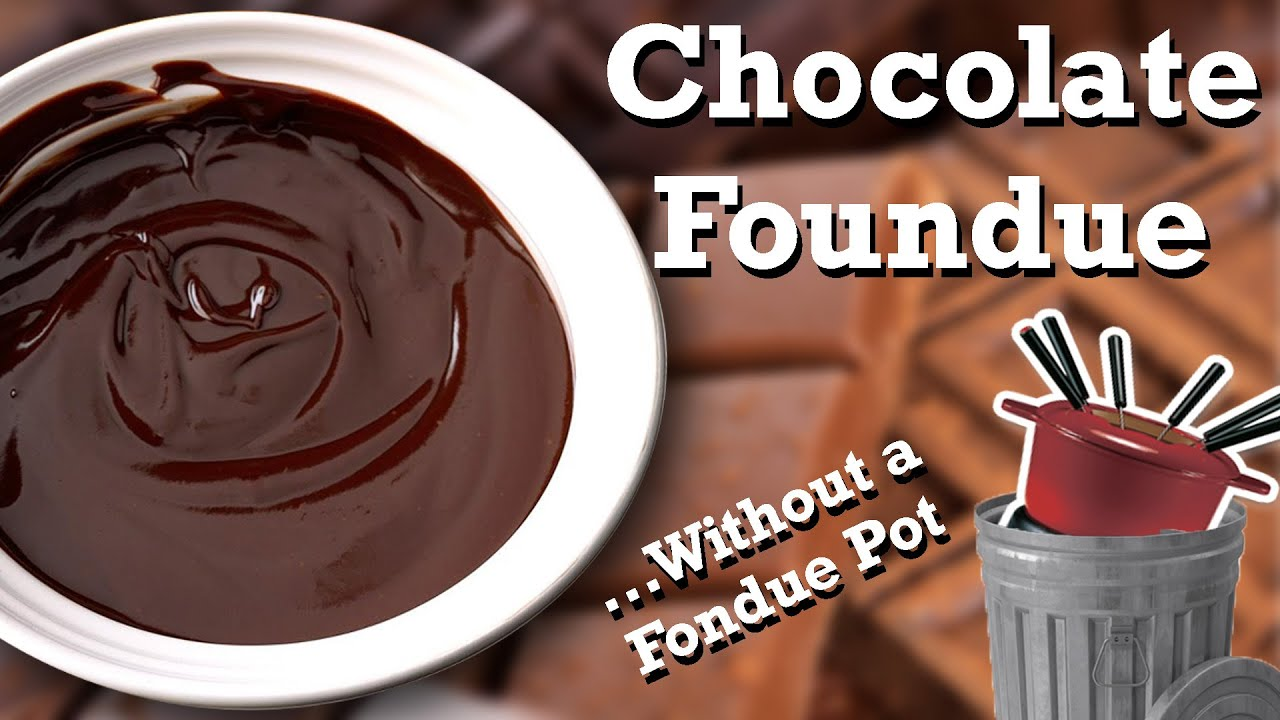 Chocolate Fondue Without A Fondue Pot Youtube