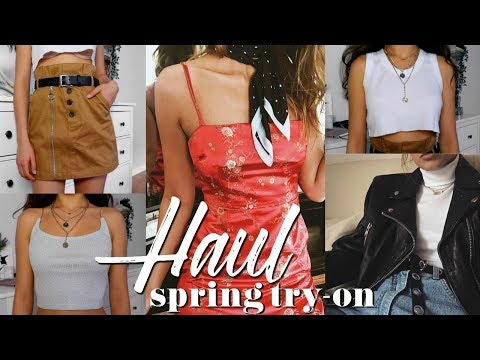 SPRING TRY-ON HAUL // i.am.gia, topshop, +