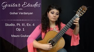 Studios Op.1 Part 3, Example 4 (Grace notes) by Mauro Giuliani | Guitar Etudes with Gohar Vardanyan
