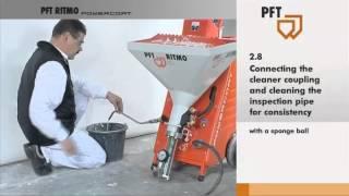 #3 PFT mixing pump RITMO powercoat - Start up with material