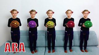 خمسة قرود صغيرة 🙈 동요와 어린이 노래 #2