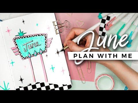 PLAN WITH ME | June 2020 Bullet Journal Setup