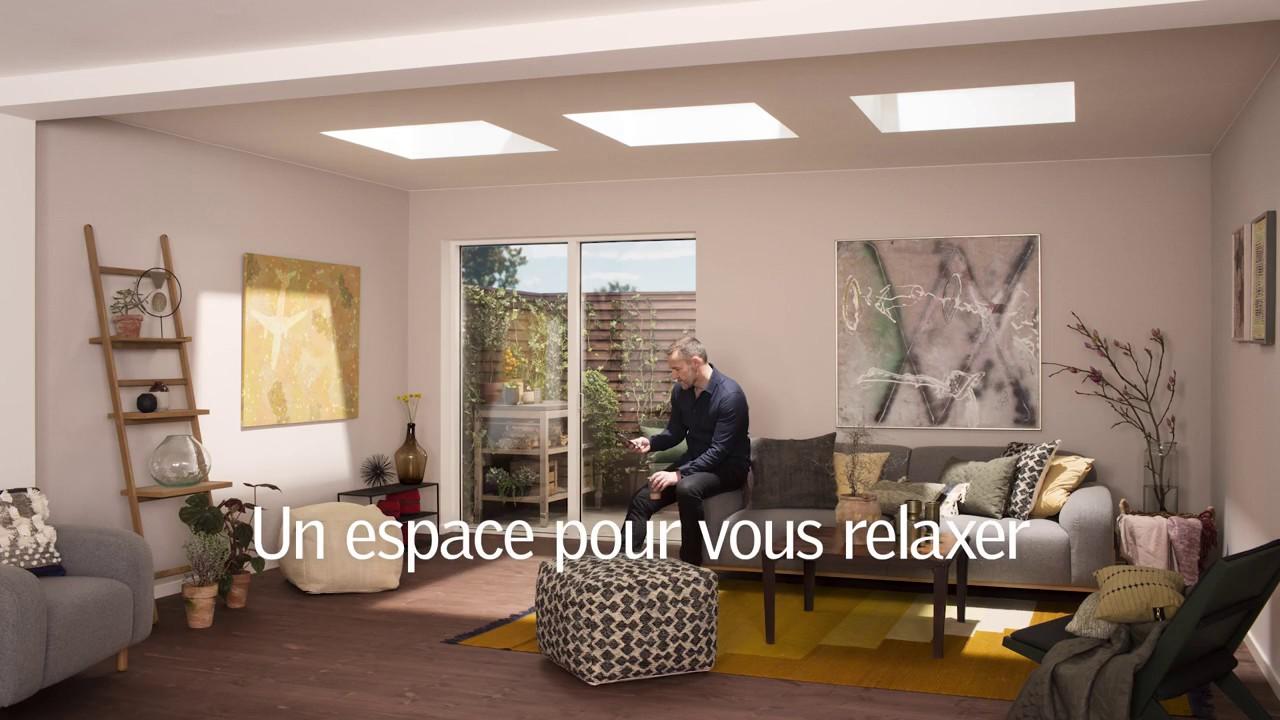 Velux l habillage de vos toits plats qui se vit l for Habillage interieur velux