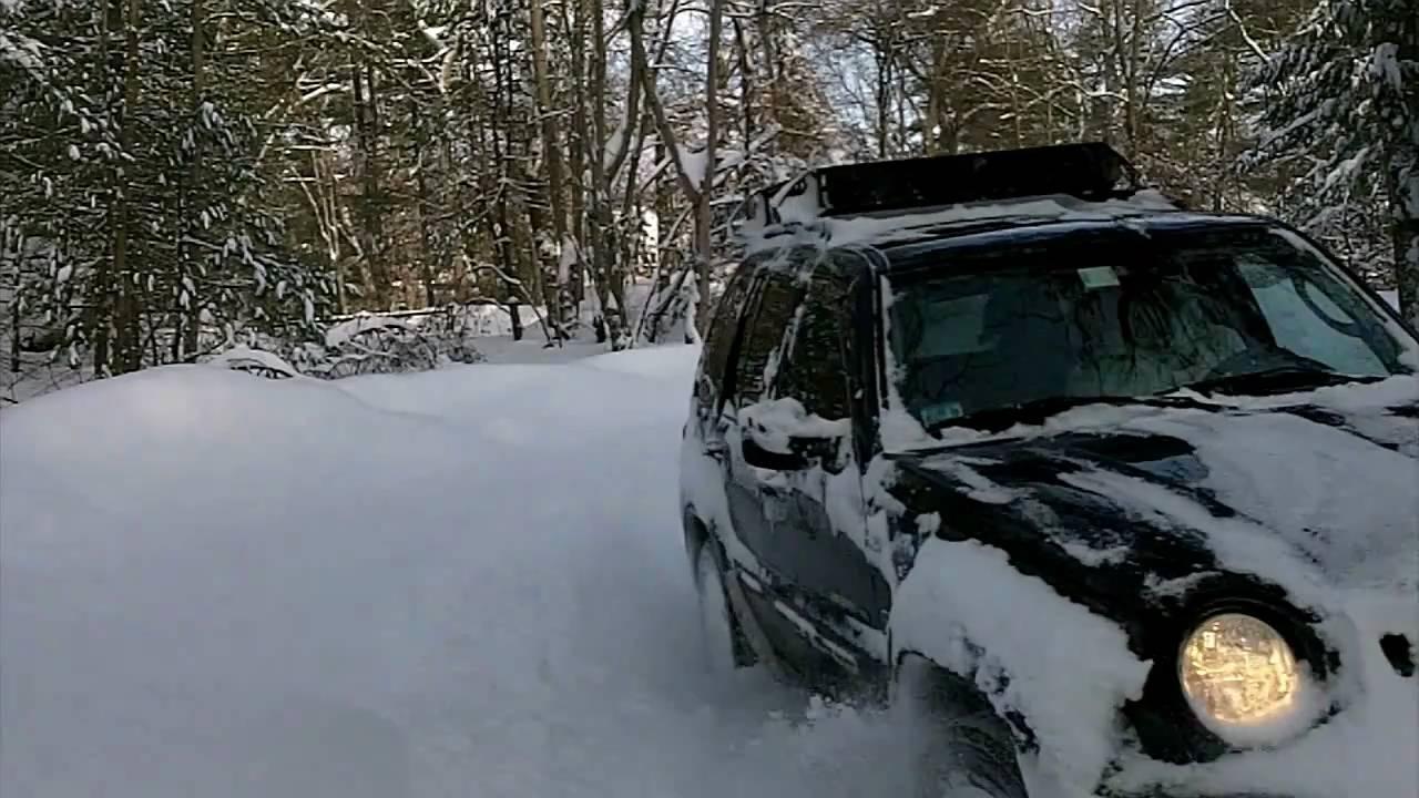 All Terrain Tires >> Jeep Liberty - deep snow (part 2) - YouTube