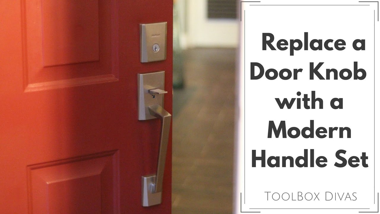 How To Replace a Door Knob for a Handle Set - YouTube