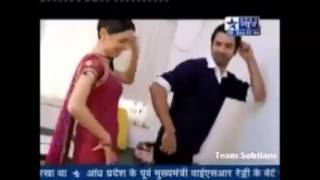 Barun Sobti and Sanaya Irani off screen masti...TS gift on 2nd Anniversary