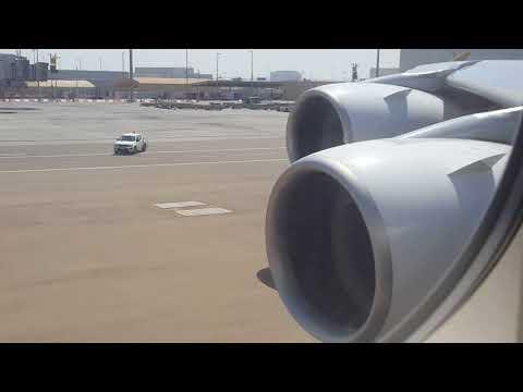 Etihad Airways Airbus A380   Pushback & Start Up   EY204   Abu Dhabi - Mumbai