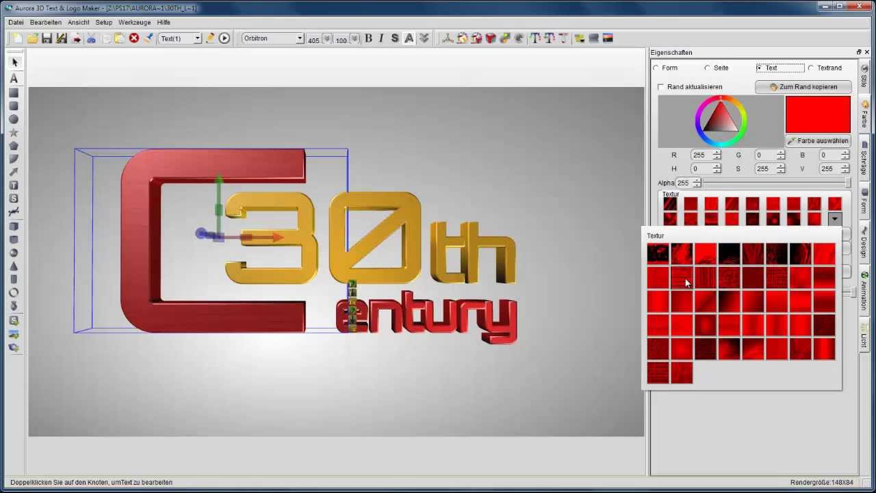 3D Logos erstellen - Aurora 3D Text & Logo Maker - YouTube