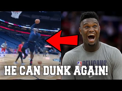ZION WILLIAMSON CAN DUNK AGAIN! OFFICIALLY CLEARED TO PLAY