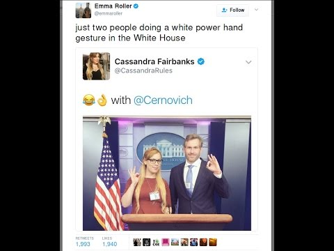 White power hand signs in the White House? Uncle Hotep chimes in