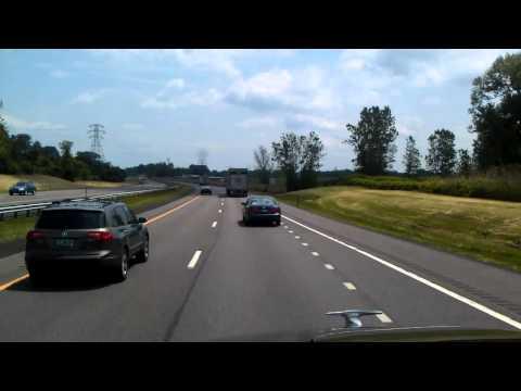 Heading through Syracuse, New York on Interstate 90