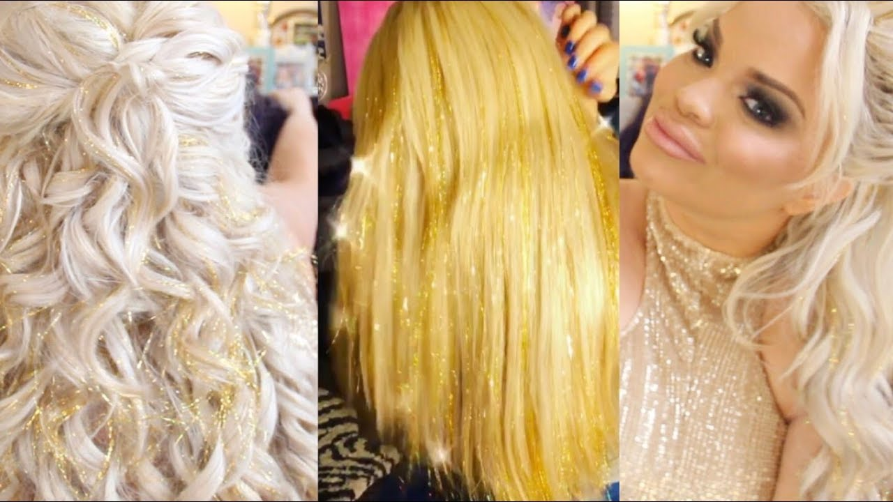 Life Updates New Glitter Tinsel Extensions Youtube
