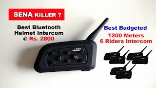 This is one of the best intercom system available for BIkers, it can connect upto 6 Riders, Voice call and Music quality is the best even at higher speeds.