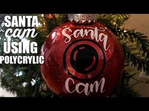 SANTA CAM ORNAMENT USING POLYCRYLIC | DIY DOLLAR TREE ORNAMENT