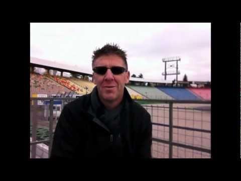 Markus Winkelhock testet Dethleffs-Reisemobil auf dem Hockenheimring