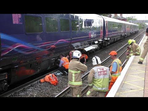 Train fire at Welwyn North