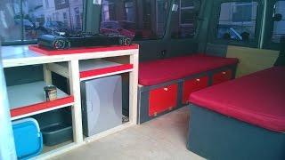 Ford Transit van mini bus to camper van conversion Part 6 in the UK