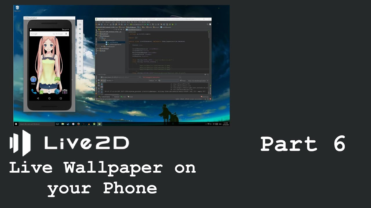 How to Live2D Live Wallpaper on your Phone