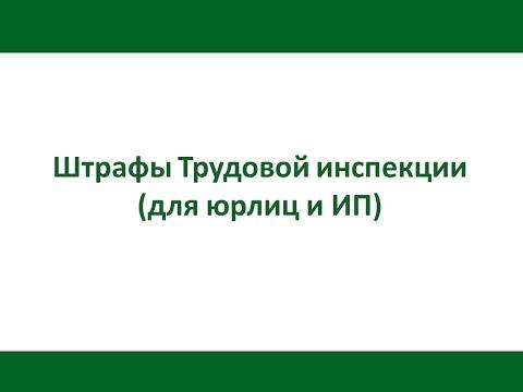 Штрафы Трудовой инспекции