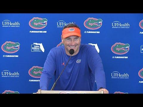Florida Football: Coach Mullen Press Conference 8-15-18