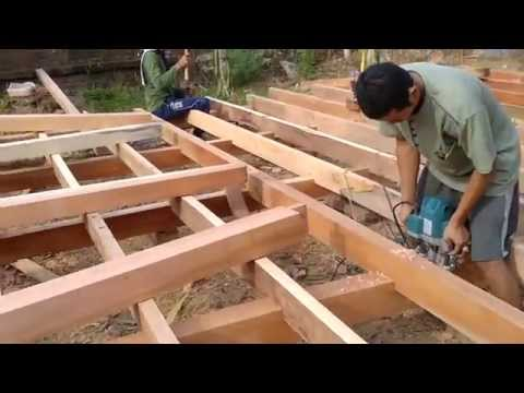 Pembuatan Rangka Rumah Kayu Youtube