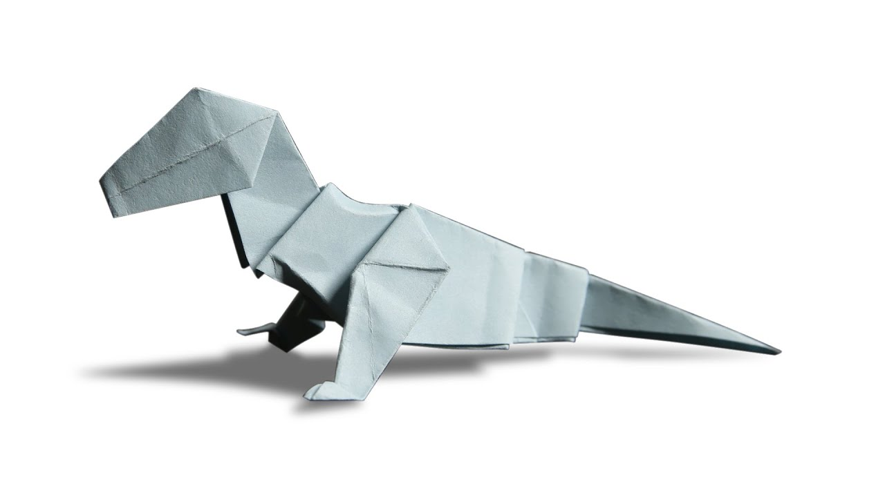 how to make origami dinosaur