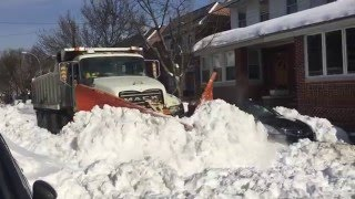 Sanitation V Plow Glendale Queens New York, Blizzard 2016 Jonas