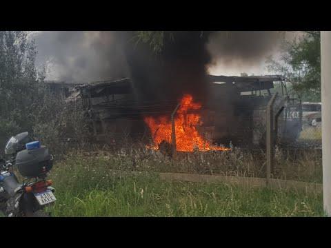 Incendio en depósito de Monticas