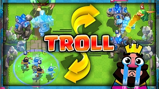 GOLEM PRINCESS TROLLING • Clash Royale Mirror Clone Trolling