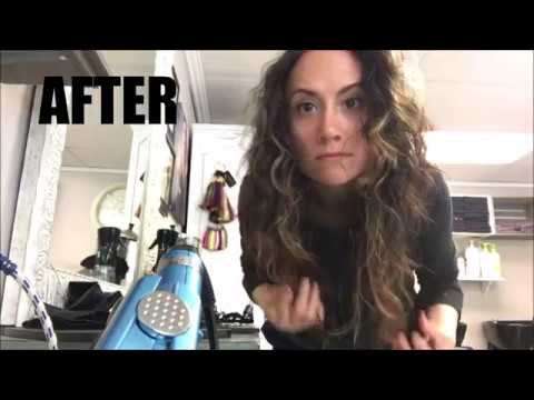 HOW TO CUT CURLY HAIR AT HOME HAIRSTYLIST TIP | Blush Brush and Blow Dry by  Erika with a K