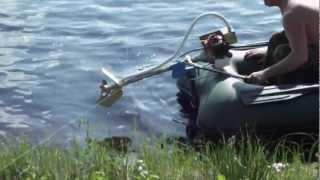 Самодельный лодочный мотор. Второе испытание