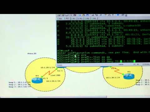 CCNP OSPF Route Filtering Ahmed Abdallah