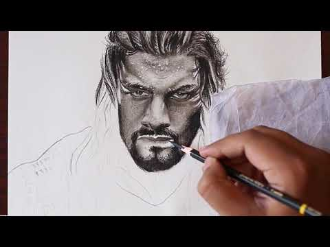 wwe-drawing-roman-reigns-(realistic-speed-drawing)-part-2