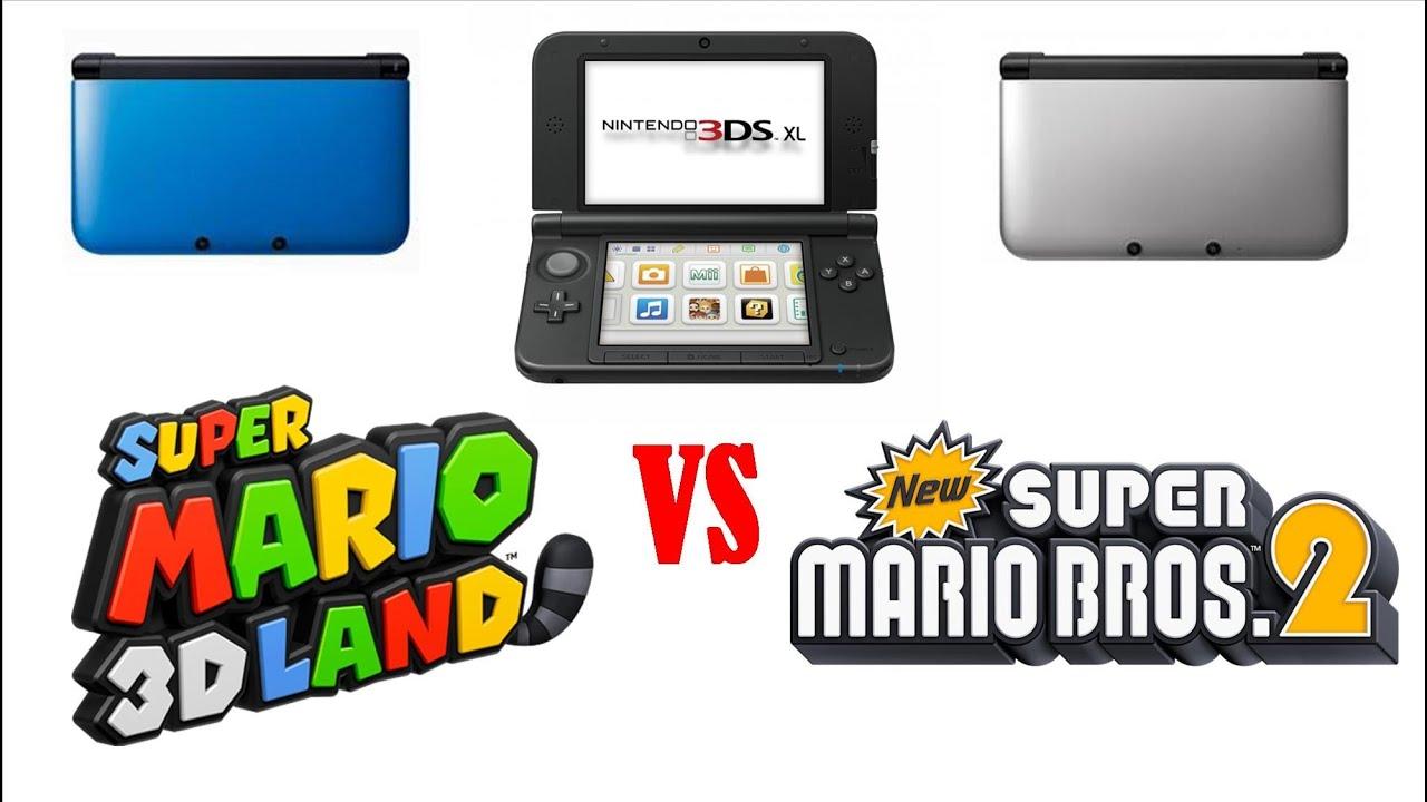 Super Mario 3d Land 3ds Xl Vs New Super Mario Bros 2 3ds Xl Youtube