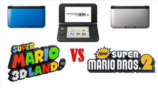 Super Mario 3D Land 3DS XL VS New Super Mario Bros 2 3DS XL