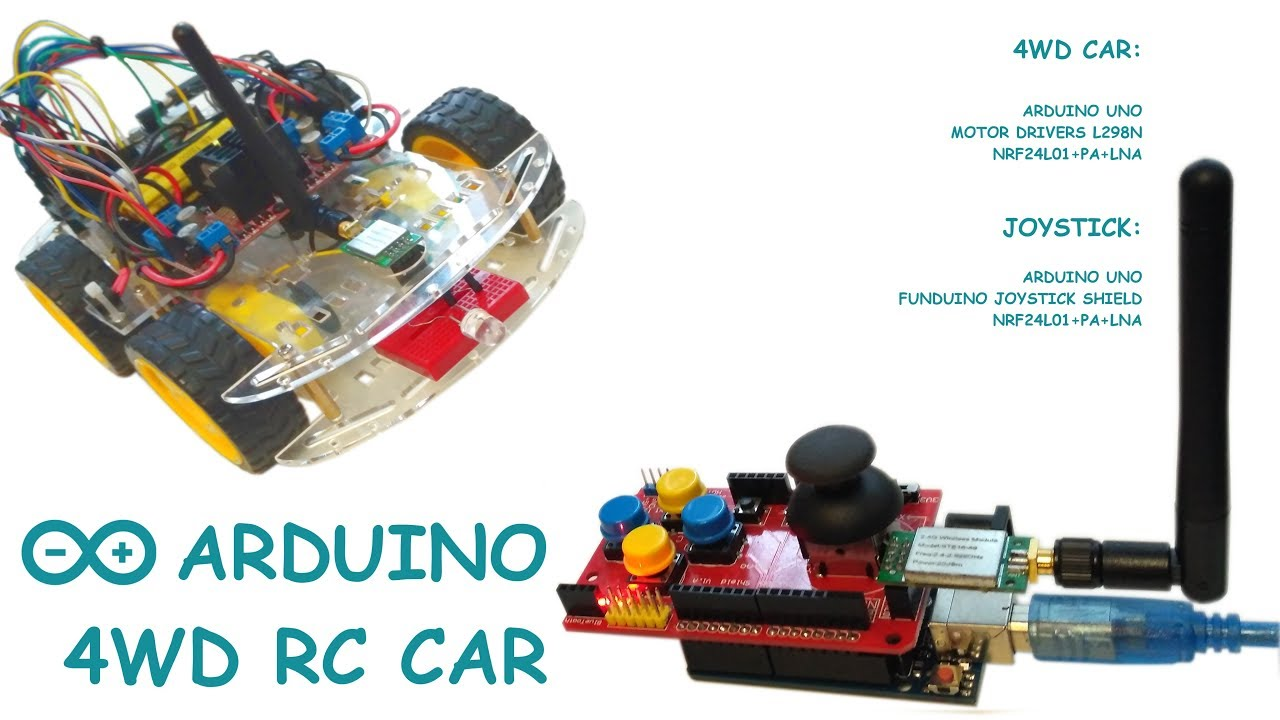 Arduino 4WD RC Car | Joystick Shield  Arduino Uno