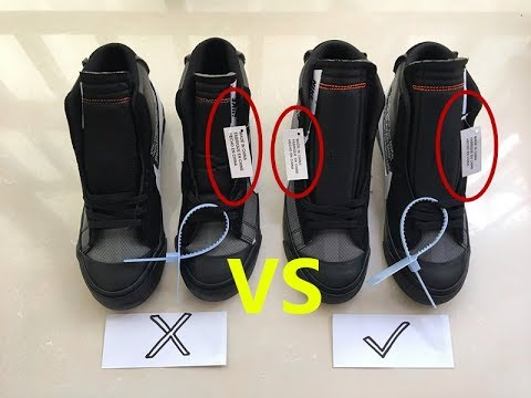 """detailed look a9c63 fbcdc Comparison Off White x Nike Blazer Mid """"Grim Reaper"""" How to distinguish"""