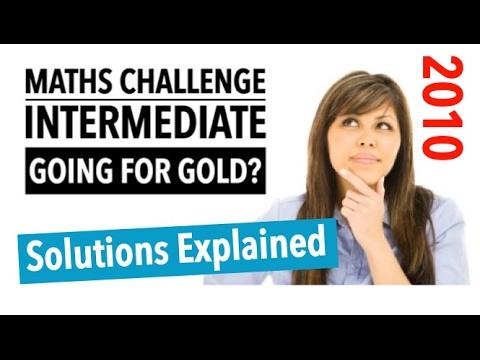 UKMT 2010 Intermediate Maths Challenge