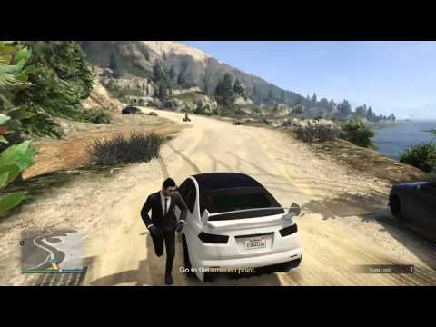 GTA online gymnastics from quad to car